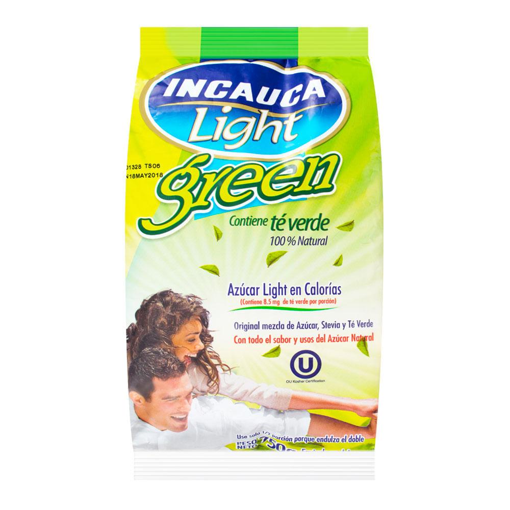 Azúcar Light Incauca Contiene té verde 100% natural Bolsa