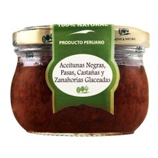 Tapenade-Native-and-Natural-Aceitunas-Negras-Pasas-Castañas-y-Zanahoritas-Glaseadas-Frasco-210-g-1-86680