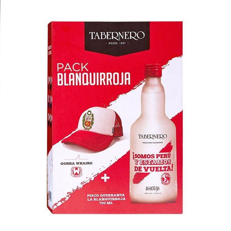 Pack-Pisco-La-Botija-Quebranta-Blanquirroja-Botella-700-ml---Gorra-Whairo-1-1667318