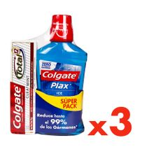 Enjuague-Bucal-Colgate-Plax-Ice-500-ml---Pasta-Dental-Total-Clean-75-ml-Pack-3-Unidades-1-11992570