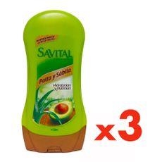 Acondicionador-Palta-y-Sabila-Savital-Pack-3-Frascos-de-530-ml-c-u-1-8299067