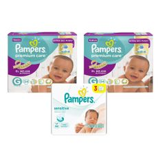 Pañales-Pampers-Premium-Care-Talla-G--9-a-125-kg--Paquete-34-Unidades-02-Paquetes---Toallitas-Humedas-Pampers-Sensitive-Tripack-168-Unidades-1-17188140