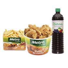 8-Piezas-de-Pollo-Broaster-Metro---Porcion-de-Papas-fritas--200-g-----Chicha-Morada-Naturale-1-Litro-1-74493