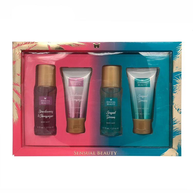 Set-Sensual-Beauty-2-Body-Mist-Frasco-75-ml---2-Lociones-57-ml-Fresh-Sen-1-17469805