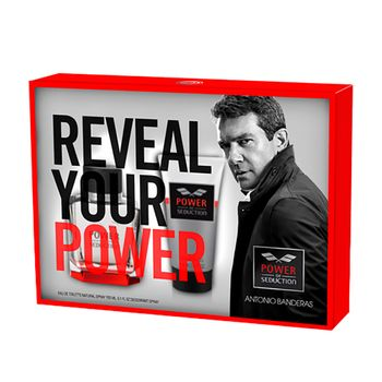 e0f72e9a1 Estuche Colonia Antonio Banderas Poder de Seducción 50 ml + Shower Gel 50 ml