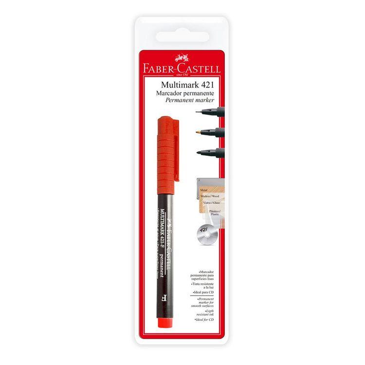 Faber-Marcador-Permanente-421-X-1-Rojo-1-22210
