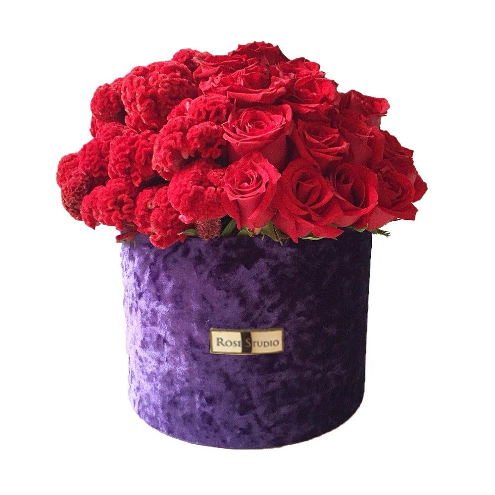 Rose Studio Medium Box Arreglo Floral Olimpia Wong
