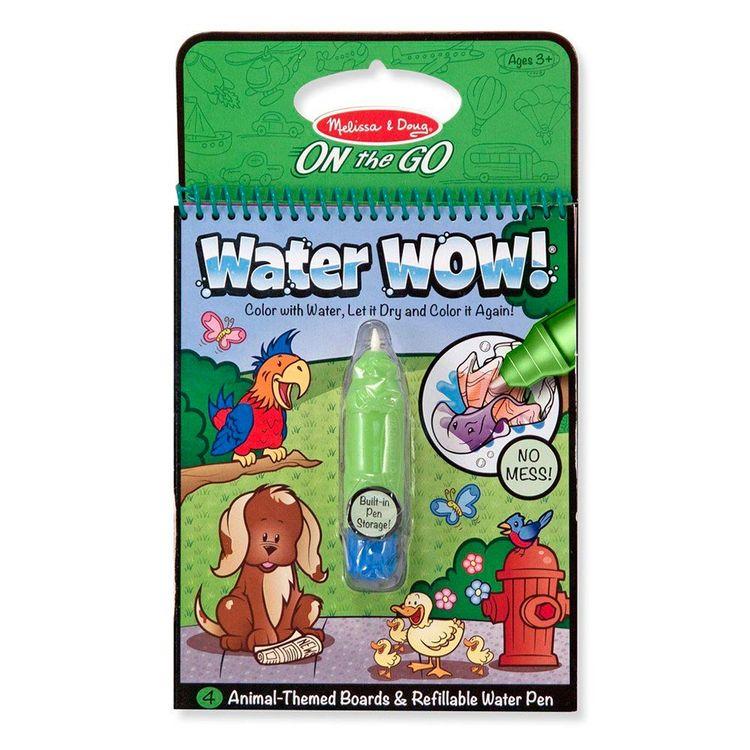 Libro Para Colorear Con Agua Water Wow Animales Wong