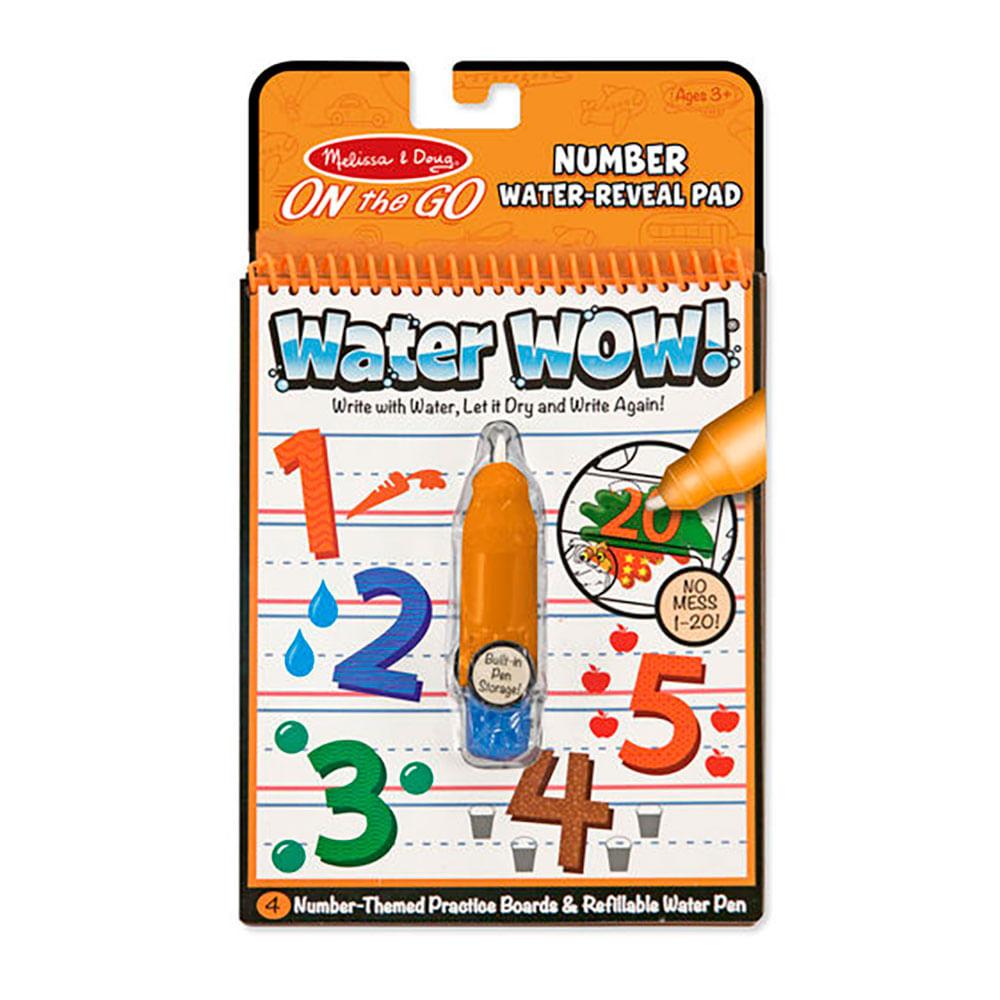 Libro Para Colorear Con Agua Water Wow Números Wong