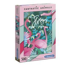 Clementoni-Rompecabezas-Fantastic-Animals-Flamingos-500-Piezas-1-41212447