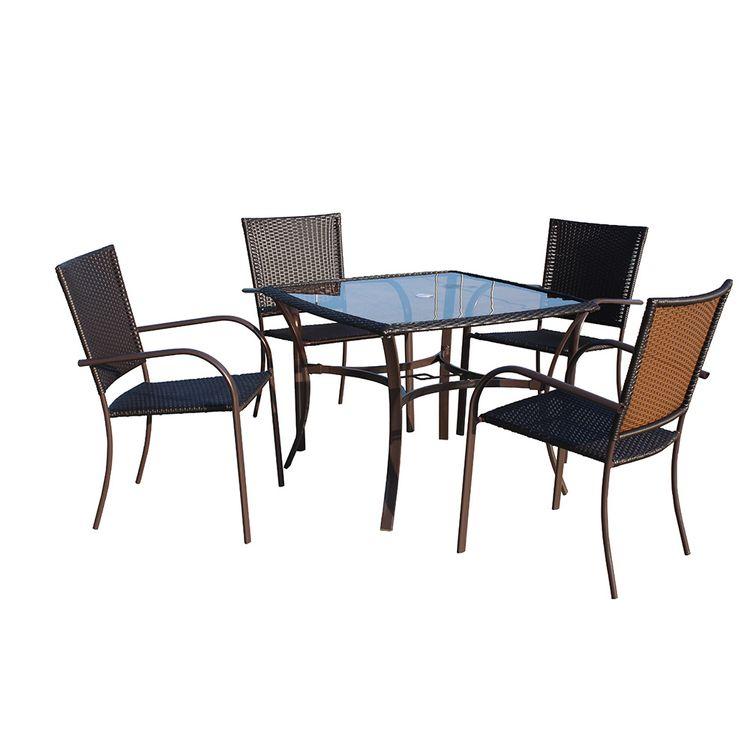Krea Set de Comedor para Terraza Mesa + 4 Sillas - Wong