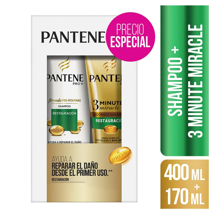 Pack-Pantene-Restauracion--Shampoo-Pro-V-400-ml---Acondicionador-3-Minute-Miracle-170-ml-1-6719228