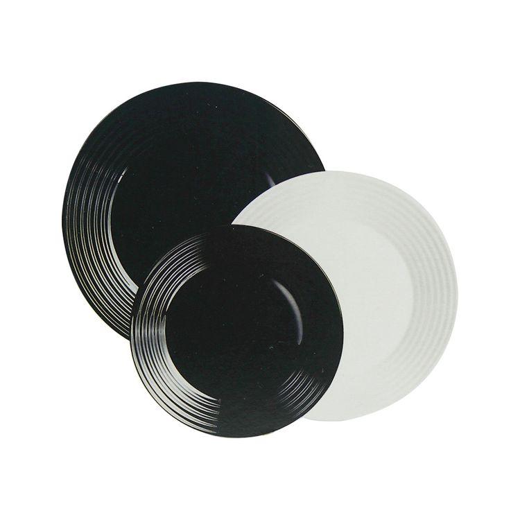Luminarc-Set-de-Vajillas-18-Piezas-Blanco-y-Negro-2-107104453