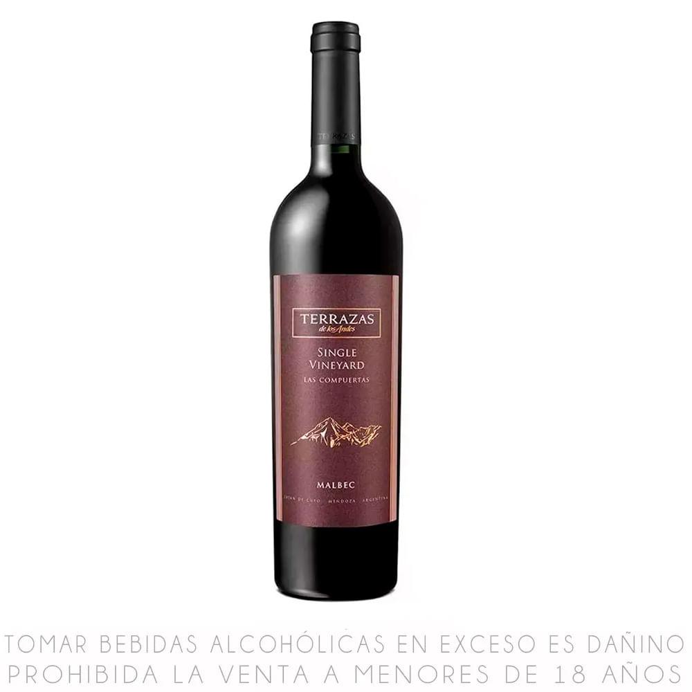 Vino Tinto Afincado Malbec Terrazas De Los Andes Botella 750