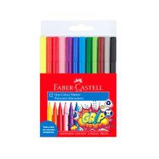 Plumones-Delgados-Grip-Colour-Marker-Faber-Castell-Estuche-12-Colores-1-22195