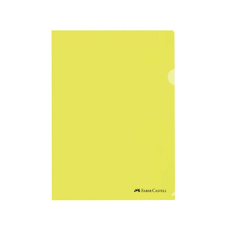 Clear-Folder-A4-Faber-Castell-Amarillo-Pack-de-10-Unid-1-113545