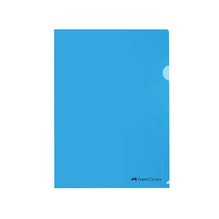 Clear-Folder-A4-Faber-Castell-Azul-Pack-de-10-Unid-1-149492