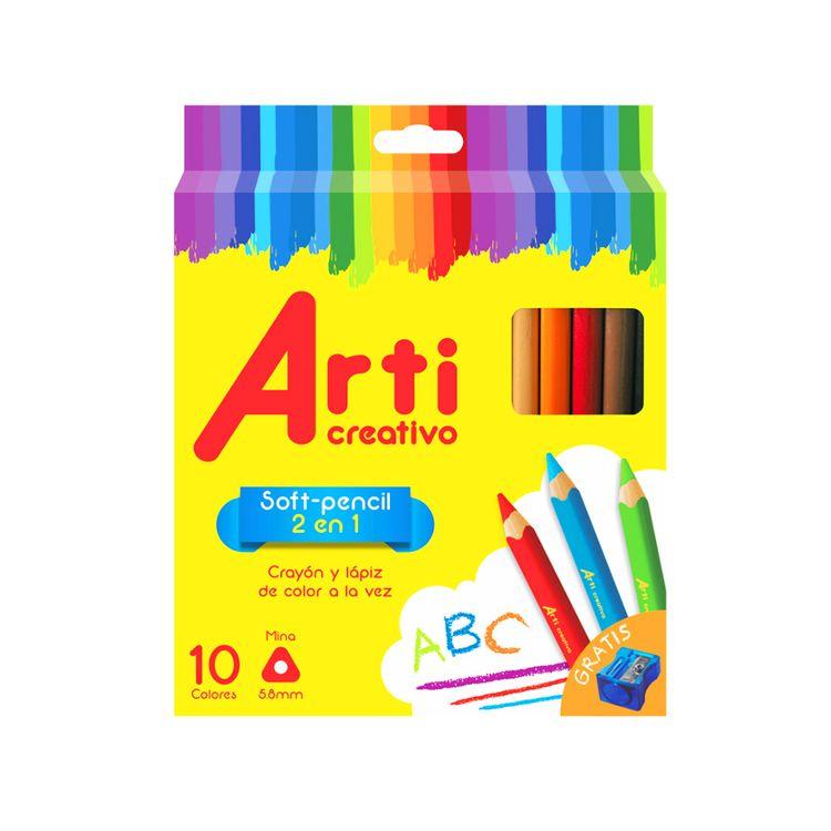 Soft-Pencil-2-en-1-Arti-Creativo-Caja-10-Colores---Tajador-1-27073
