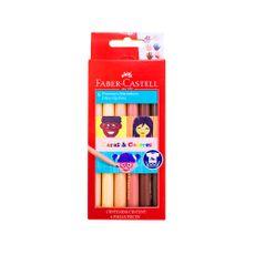 Plumones-Marcadores-Caras---Colores-Faber-Castell-Caja-6-Colores-1-109801019