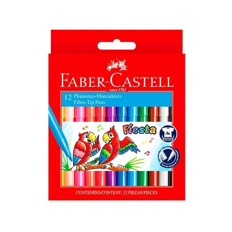 Plumones-Fiesta-45-Faber-Castel-Caja-12-Unid-1-75260