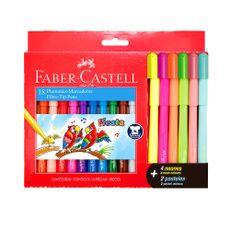 Plumones-Fiesta-45-Faber-Castell-12-Unid---4-Neon---2-Pastel-1-109800985