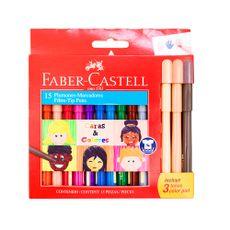 Plumones-Delgados-Caras---Colores-Faber-Castell-Caja-12-Unid---3-Tonos-Color-Piel-1-109801018