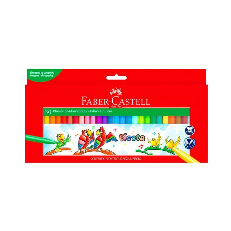 Plumones-Fiesta-45-Faber-Castell-Caja-30-Unid-1-109801027