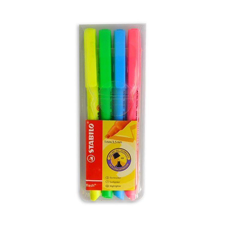 Stabilo-Flash-Resaltador-Estuche-X-4-Colores-Surtido-1-22008
