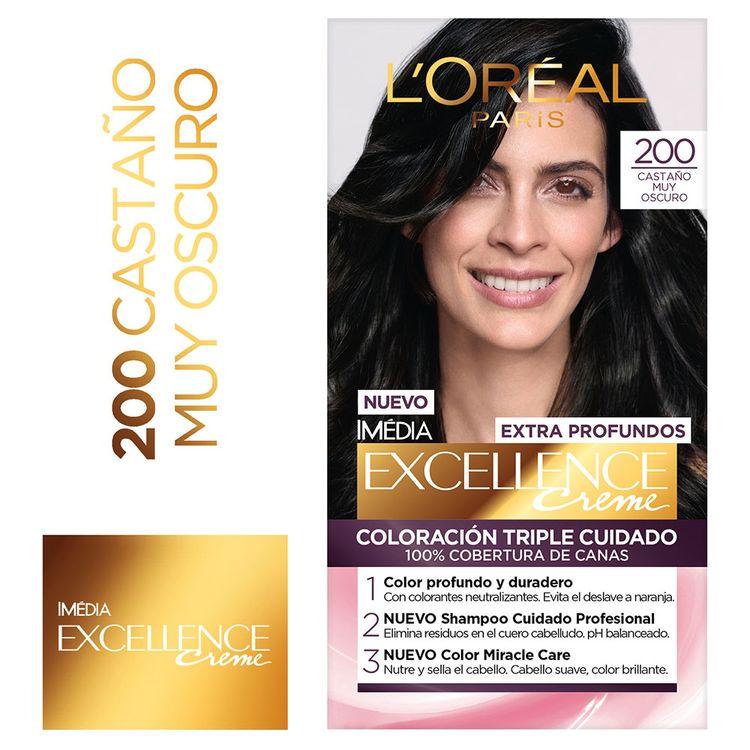 Tinte-Para-cabello-200-Castaño-muy-Oscuro-1625-ml-Excellence-1-31564568