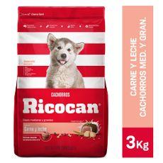 Ricocan-Alimento-para-Perros-Cachorros-Raza-Mediana-Grande-Carne-y-Leche-Bolsa-3-Kg-1-34829200