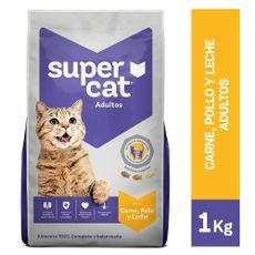 Supercat-Alimento-para-Gatos-Adultos-Carne-Pollo-y-Leche-Bolsa-1-Kg-1-102350215