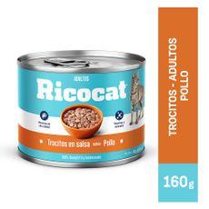 Ricocat-Trocitos-en-Salsa-para-Gatos-Adultos-Sabor-Pollo-Lata-160-gr-1-126697343