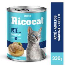 Ricocat-Pat-para-Gatos-Adultos-Sardina-y-Pollo-Lata-330-gr-1-102342349