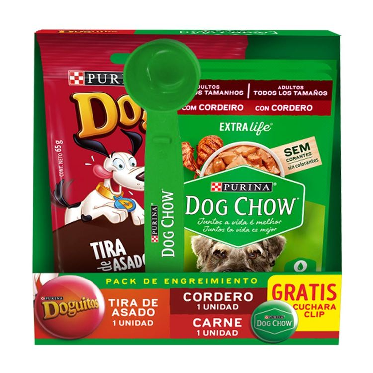Pack-Doguitos-Tira-de-Asado-Dog-Chow-Trocitos-en-Salsa-Cordero-Carne-Extra-Life-Pouch-2-unid-1-167904646