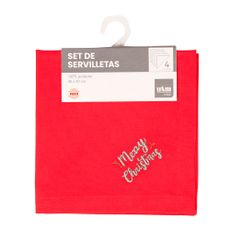 U-M-Home-Servilletas-Bordadas-de-Tela-Merry-Christmas-Rojo-Set-4-unid-1-180439313