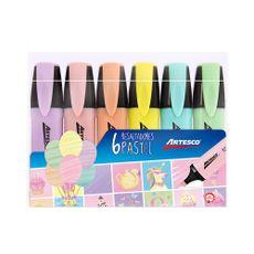 Resaltadores-Colores-Pastel-Artesco-Pack-6-unid-1-24416744