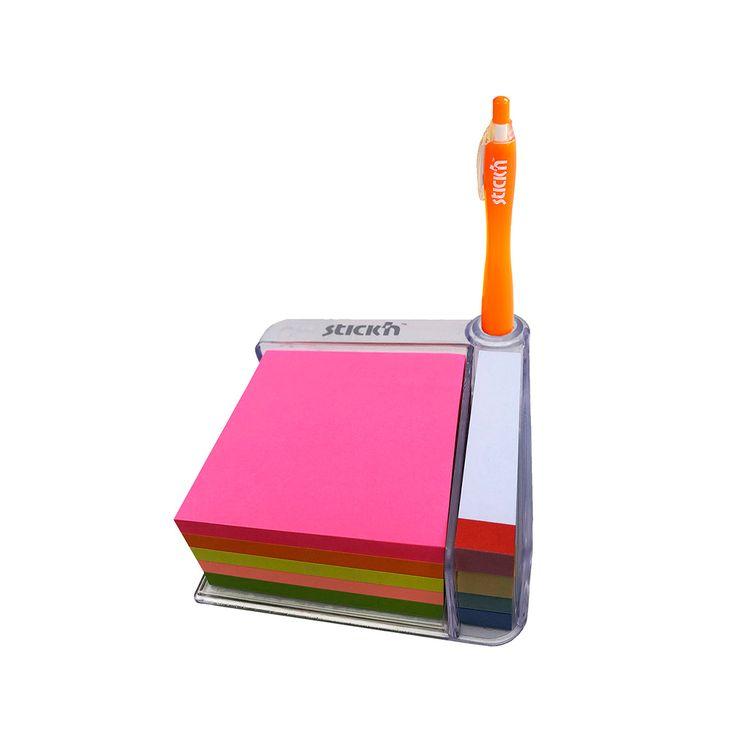 Cubo-de-Notas-Adhesivas-3x3-Ne-n-Dispensador-Stick-n-1-113829