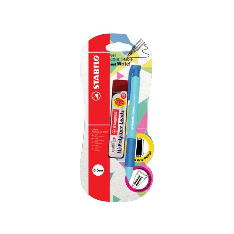 Stabilo-Com4-Portaminas-0-5-Azul-En-Blister-Repuesto-1-25923507
