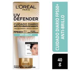 Crema-Facial-Cuidado-Diario-Anti-Brillo-UV-Defender-L-Or-al-Paris-Tubo-40-g-1-184743329