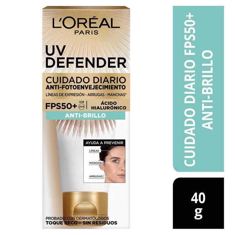 Crema-Facial-Cuidado-Diario-Anti-Brillo-UV-Defender-L-Or-al-Paris-Tubo-40-g-1-184743329
