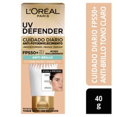 Crema-Facial-Cuidado-Diario-Anti-Brillo-UV-Defender-Tono-Claro-L-Or-al-Paris-Tubo-40-g-1-184743330