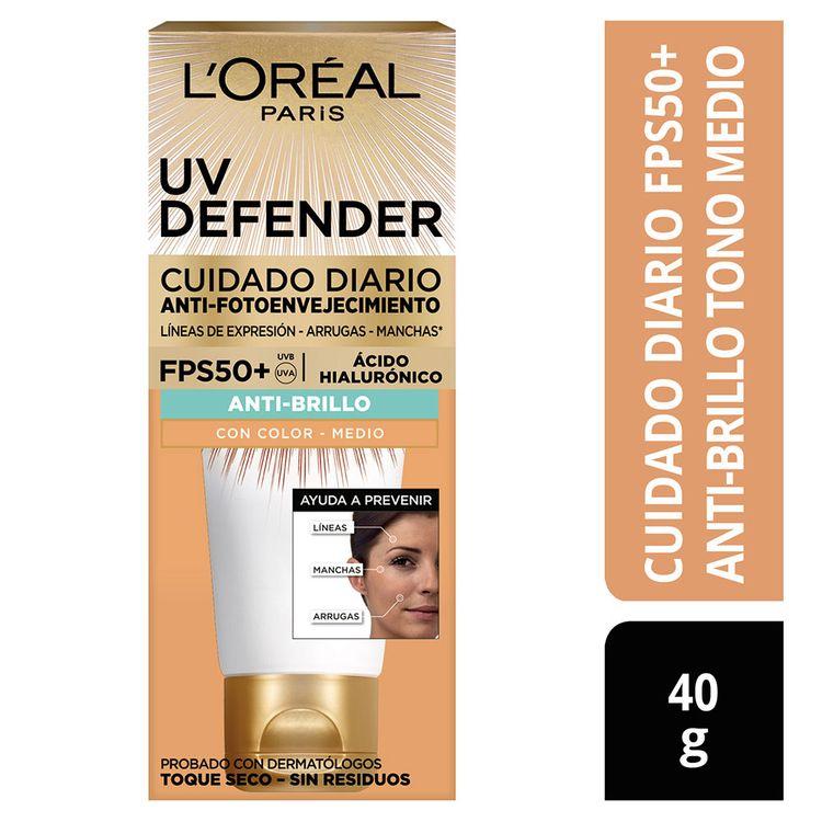Crema-Facial-Cuidado-Diario-Anti-Brillo-UV-Defender-Tono-Medio-L-Or-al-Paris-Tubo-40-g-1-184743331