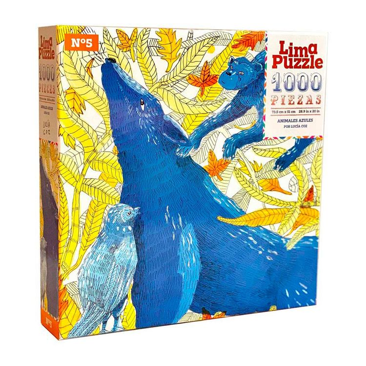 Lima-Puzzle-Rompecabezas-Animales-Azules-1000-Piezas-1-170986630