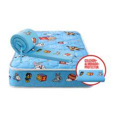 Forli-Colch-n-Cuna-Looney-Tunes-Baby-Almohada-Protector-de-Borde-para-Cuna-Azul-1-199422115