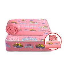 Forli-Colch-n-Cuna-Looney-Tunes-Baby-Almohada-Protector-de-Borde-para-Cuna-Rosado-1-199422116
