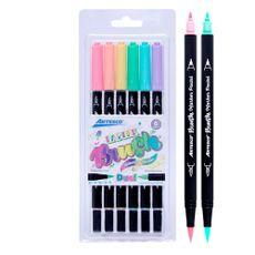 Artesco-Plumones-Doble-Punta-Pastel-Brush-Pack-6-unid-1-187641725
