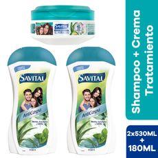 SAVITAL-SH-ANTICASPA-12X530ML---TRATAMIENTO-CAP-SAVITAL-NUTRE-180ML