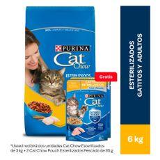 Cat-Chow-Alimento-para-Gatos-Esterilizados-6-Kg-Alimento-H-medo-para-Gatos-Esterilizados-Sabor-Pescado-Pouch-100-g-2-unid-Gratis-1-203983269