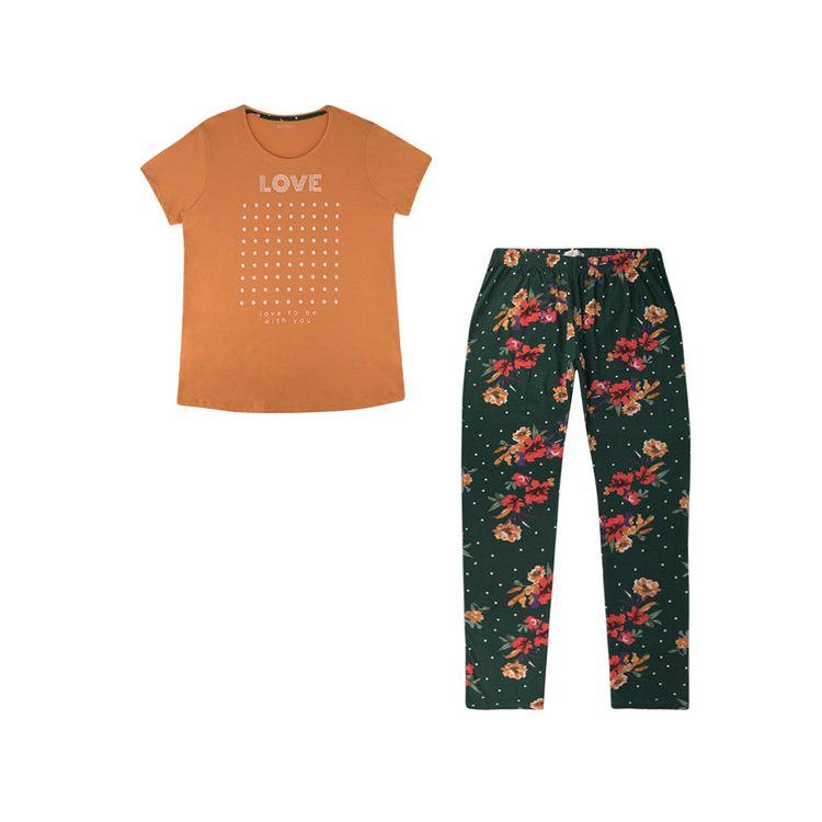 Urb-Pijama-Manga-Corta-Floral-Talla-S-2-Piezas-1-197581235