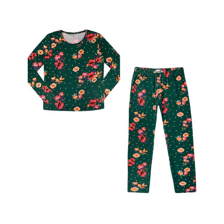 Urb-Pijama-Manga-Larga-Floral-Talla-S-2-Piezas-1-197581362